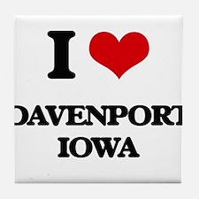 I love Davenport Iowa Tile Coaster