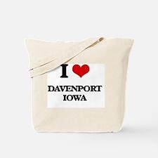 I love Davenport Iowa Tote Bag