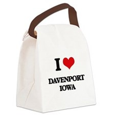 I love Davenport Iowa Canvas Lunch Bag