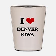 I love Denver Iowa Shot Glass