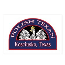 Kosciusko Polish Texan Postcards (Package of 8)