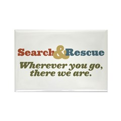Wherever You Go, There We Are. Rectangle Magnet (1