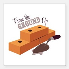 """Ground Up Square Car Magnet 3"""" x 3"""""""