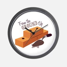 Ground Up Wall Clock