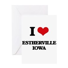 I love Estherville Iowa Greeting Cards