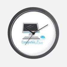 Computer Love Wall Clock