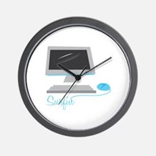 Surfin Wall Clock