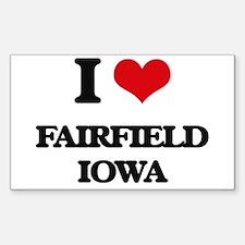I love Fairfield Iowa Decal