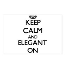 Keep Calm and ELEGANT ON Postcards (Package of 8)