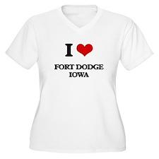 I love Fort Dodge Iowa Plus Size T-Shirt