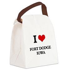 I love Fort Dodge Iowa Canvas Lunch Bag