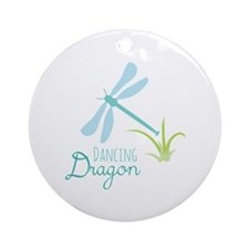 Dancing Dragon Ornament (Round)