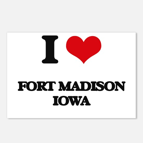 I love Fort Madison Iowa Postcards (Package of 8)