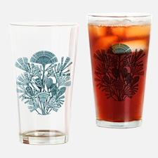 Fan Design - Diatomea by Ernst Haec Drinking Glass