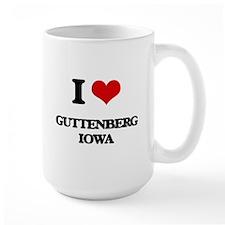I love Guttenberg Iowa Mugs