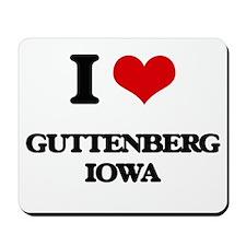 I love Guttenberg Iowa Mousepad