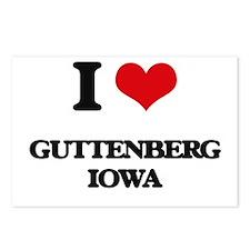I love Guttenberg Iowa Postcards (Package of 8)