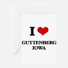 I love Guttenberg Iowa Greeting Cards