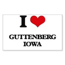 I love Guttenberg Iowa Stickers