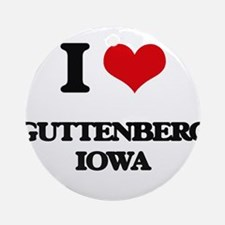 I love Guttenberg Iowa Ornament (Round)