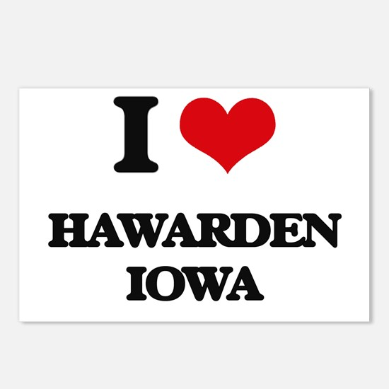 I love Hawarden Iowa Postcards (Package of 8)