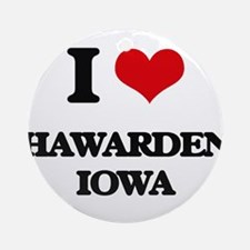 I love Hawarden Iowa Ornament (Round)