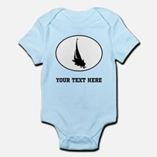 Sail Boat Silhouette Oval (Custom) Body Suit