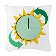Time Change Woven Throw Pillow