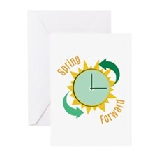 Spring Forward Greeting Cards