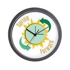 Spring Forward Wall Clock