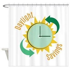Daylight Savings Shower Curtain