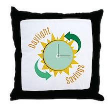 Daylight Savings Throw Pillow