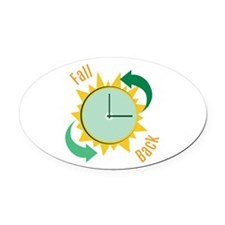Fall Back Oval Car Magnet