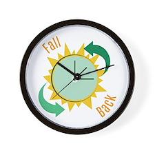 Fall Back Wall Clock