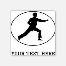 Karate Punch Silhouette Oval (Custom) Sticker