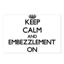 Keep Calm and EMBEZZLEMEN Postcards (Package of 8)
