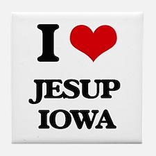 I love Jesup Iowa Tile Coaster