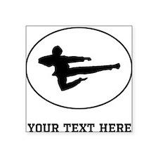 Jump Kick Silhouette Oval (Custom) Sticker