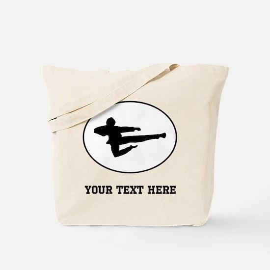 Jump Kick Silhouette Oval (Custom) Tote Bag