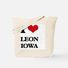 I love Leon Iowa Tote Bag