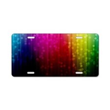 ombre rainbow Aluminum License Plate