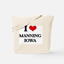 I love Manning Iowa Tote Bag