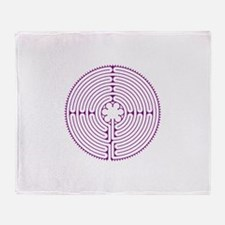 Chartres Labyrinth (small) Throw Blanket