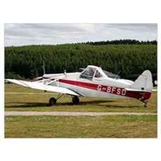 Low wing tricycle glider tow plane Poster