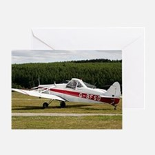 Low wing tricycle glider tow plane Greeting Card