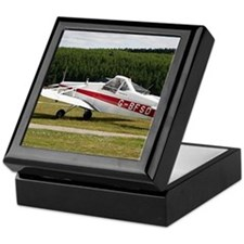 Low wing tricycle glider tow plane Keepsake Box