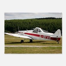 Low wing tricycle glider tow plane 5'x7'Area Rug