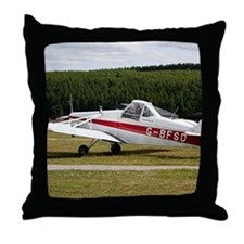 Low wing tricycle glider tow plane Throw Pillow