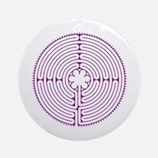 Chartres Labyrinth (small) Ornament (Round)