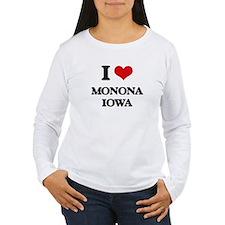 I love Monona Iowa Long Sleeve T-Shirt